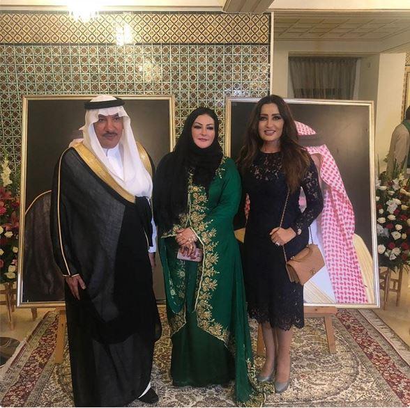 لطيفة تحتفل باليوم الوطني السعودي بسفارة المملكة في تونس