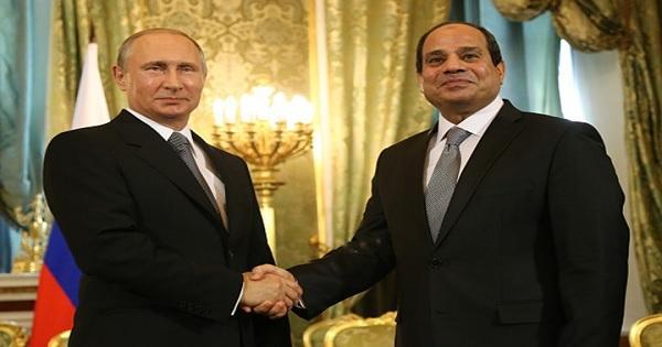 قمة ثنائية بين بوتين والسيسي لمناقشة التعاون العسكري