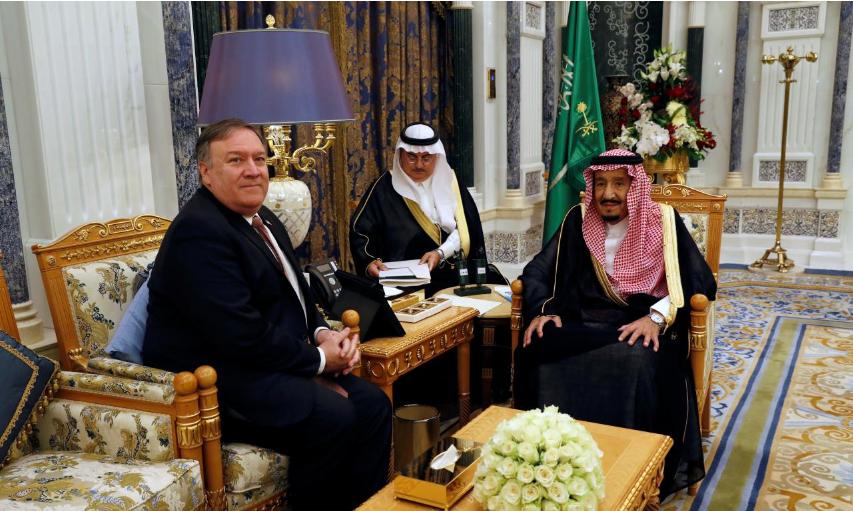 بومبيو يلتقي بالعاهل السعودي وتركيا تحقق في وجود