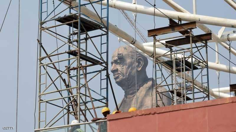 في غضون أيام سيتم الافتتاح الرسمي لأطول تمثال على الأرض