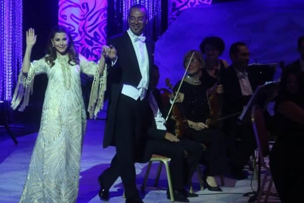 ماجدة الرومي أحيت مهرجان الموسيقى العربية في دار الأوبرا المصرية