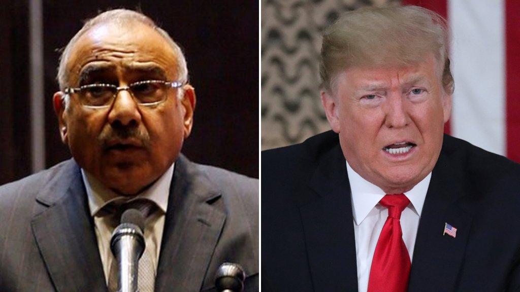 لماذا لم يلتق ترامب برئيس الوزراء عادل عبد المهدي خلال زيارته للعراق؟