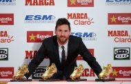 ميسي يتسلّم الحذاء الذهبي ويهزم رونالدو