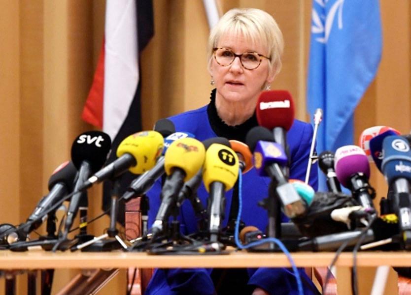 وزيرة خارجية السويد تحث الأطراف اليمنية على إجراء محادثات بناءة