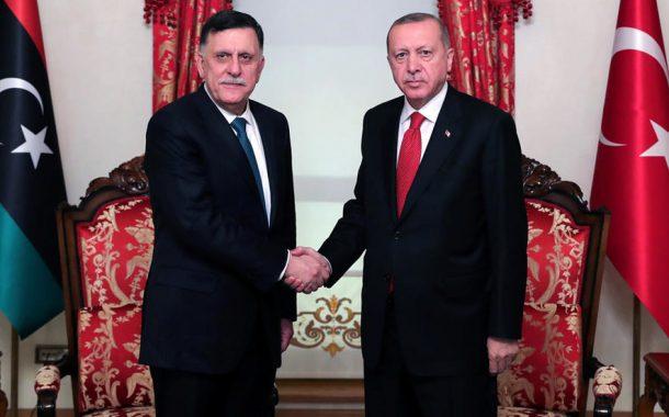 إردوغان يستقبل السراج للمرة الثانية في ثلاثة أسابيع وسط تأزم في شرق المتوسط