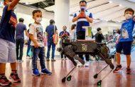 تايلاند: كلب آلي لتعقيم أيدي الأطفال ضد كورونا